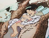 SAGA vs. Ukiyo-e mixmatch illustration