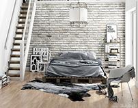 Bedroom - Scandinavian style