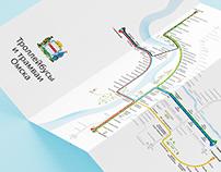 Omsk Electric Transport Map