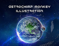 Astrochimp Monkey Cover Illustration Draw
