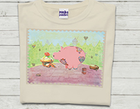 Piggy. T-shirt design for my daughter :)