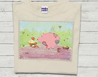 Piggy. T-shirt design for my daughter :)