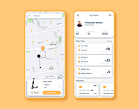 Scooter Rent Mobile App Design