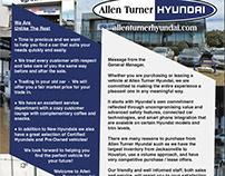 Hyundai Welcome packet