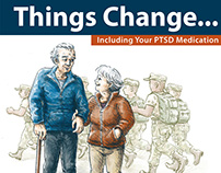 "Illustrations for ""THINGS CHANGE"" PTSD awareness poster"