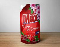 Jabón líquido Max Florez de cerezo