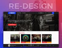 Songdew Homepage Re-design
