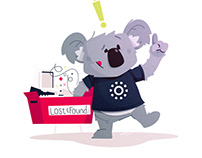 Koala Mascot & Animations | Error pages, costume, etc.