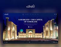Uzbekistan Tourism Website Concept