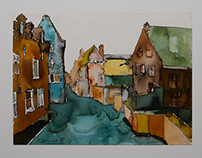 Leuven – watercolor