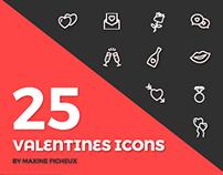 25 Valentine's Icons