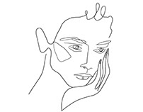 Line Portraits. Fashion Illustration.