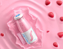 3D Illustration Salubi yogurt - Advertising Imagery