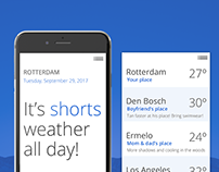 Daily UI #037 - Weather app