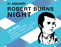 Robert Burns Night. Event Poster