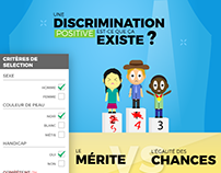 Affiche - La discrimination positive