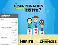 Affiche - La discrimination positive