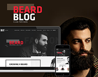 Landing Page Design for Beard Blog Club