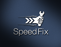 logo for (speed fix) application for fix service