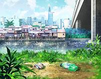 background anime