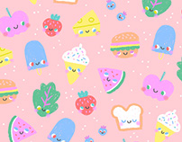 Cutie Foodies Pattern