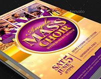 Mass Choir Concert Flyer Template