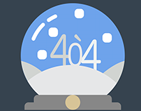 404 Error Page, Snow Globe Theme