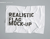 3D FLAG MOCK-UP + FREE SCENE