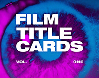Film Title Cards / Vol. I