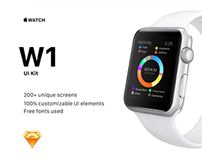 W1 UI Kit for Apple Watch Apps by freebo