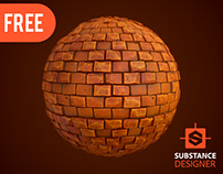 Substance Designer | Stylized Brick Wall