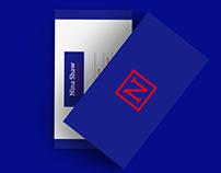 BUSINESS CARD BLUE VELVET