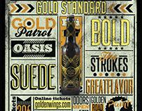 Golden Wings - Creative Beer Label Display