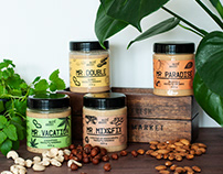 NUTS ABOUT. Handcrafted Nut Butters Labels