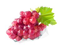 Lowpoly fruits