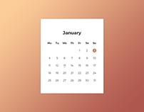 Daily UI | #038 | Calendar