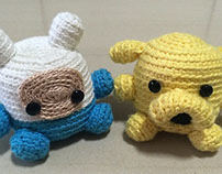 Crochet Finn and Jake [adventure time]