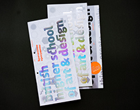 British Higher School of Art & Design brchures