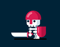 2D Flat Design VIDEO GAME CHARACTER