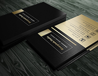 Free Dark - Gold Business Card Template