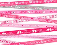 Valentine Ribbon Tape (Valentine Giftwarp/Bag for USA)