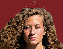 Ahed Tamimi (Low Poly Art )