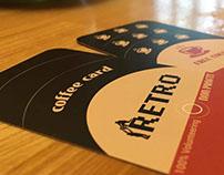 """""""Cafe Retro"""" coffee card"""