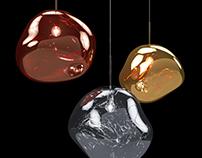 Melt Pendant Light| 3d-modeling and 3d-visualization