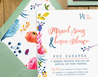 - Floral Wedding Invitation -