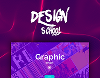 Design School Landing with free project file