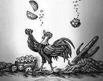 Espolon Cristalino Label Illustrated by Steven Noble
