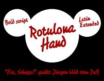 Rotulona Hand -script font-