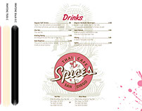 Spices Thai Cafe Menu Redesign
