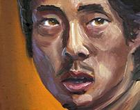 Portrait of Steven Yeun as 'Glenn Rhee'